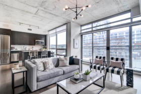 630 Queen St E 610 - living room - Toronto real estate agents Ford Thurston and Chris Olsen
