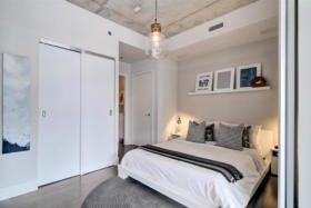 630 Queen St E 610 - master bedroom - Toronto real estate agents Ford Thurston and Chris Olsen
