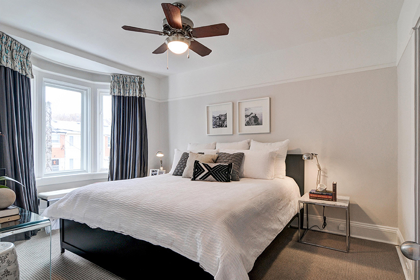 7 Juniper Avenue The Beach Toronto - Master Bedroom. Thurston Olsen Real Estate Team