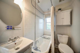 1101 Woodbine Avenue Toronto - second level washroom with clawfoot tub