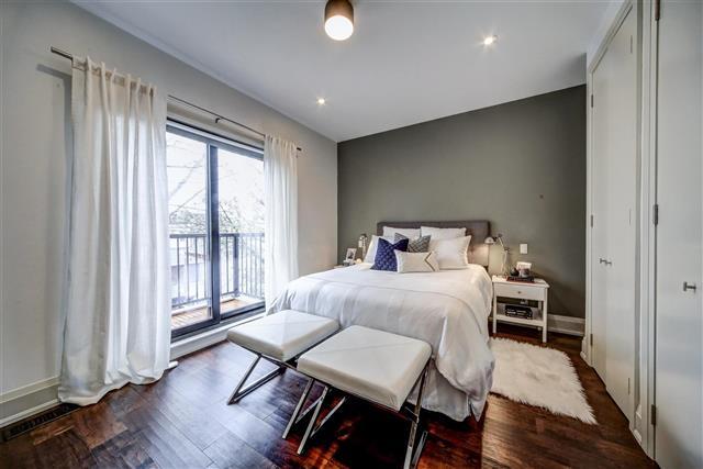 77 hastings avenue master bedroom leslieville
